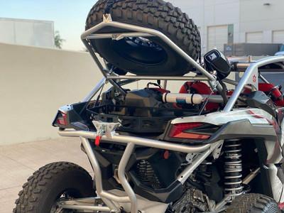 Geiser Performance Can-Am Maverick X3 Tire Rack and Bumper Combo Raw GP018CB026
