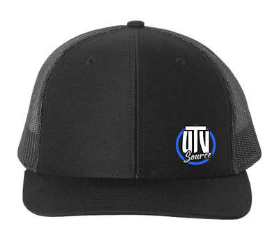 UTV Source Curved Bill Trucker Hat Standard Logo Black UTVS-HAT-H3103