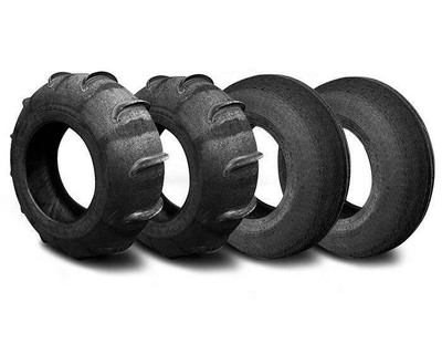 SandCraft Front Mohawk and Rear Extreme Sand Tire Kit 12 Paddle 31x11x15 12P-EXT-MOH-311115