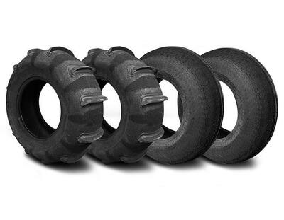 SandCraft Front Mohawk and Rear Ripper Sand Tire Kit 10 Paddle 31x11x15 10P-RIP-MOH-311115