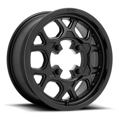 KMC KS133 Mesa Lite UTV Wheel 15X6 4X156 Black KS13356044738