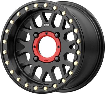 KMC Wheels KS235 Grenade Beadlock UTV Wheel 14x10 4X137 0 Satin Black KS23541048700