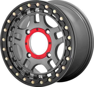 KMC Wheels KS240 Recon Beadlock UTV Wheel 14x7 4X156 38 Gun Metal KS24047044438