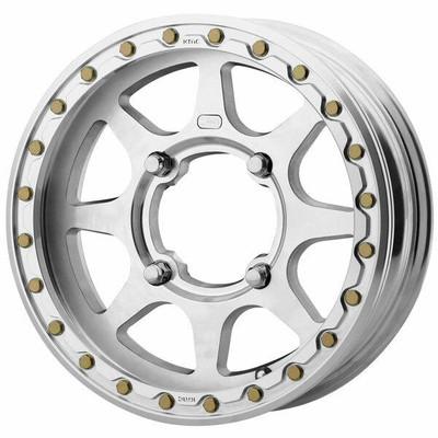 KMC Wheels XS236 Addict II LW Beadlock UTV Wheel 15x5 4X156 Black XS23655044500