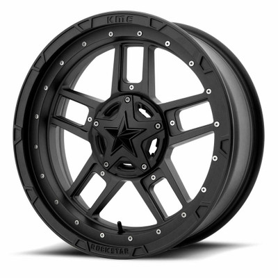 KMC XS827 RS3 UTV Wheel 18X7 4X137 Black XS82787048700