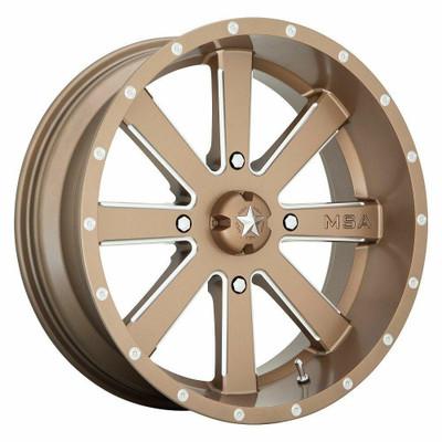 MSA M34 Flash UTV Wheel 22X7 4X137 Bronze M34-022737B