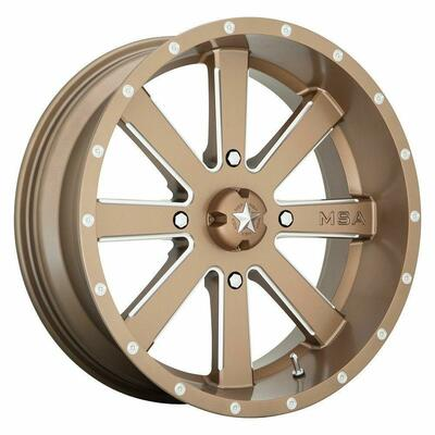 MSA M34 Flash UTV Wheel 24X7 4X156 Bronze M34-024756B