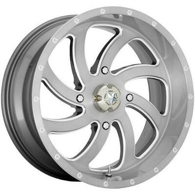 MSA M36 Switch UTV Wheel 18X7 4X137 Brushed M36-018737TI