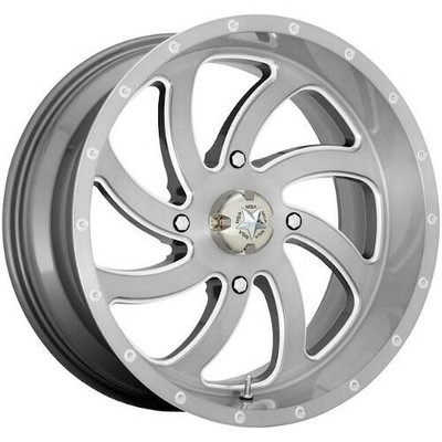 MSA M36 Switch UTV Wheel 24X7 4X137 Brushed M36-024737TI