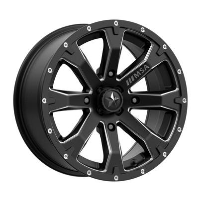MSA M42 Bounty UTV Wheel 14X7 4X137 10 Black M42-04737