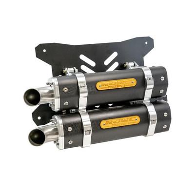 RJWC Polaris RZR Pro XP Exhaust, APX/C Dual Carbon Fiber 1107006