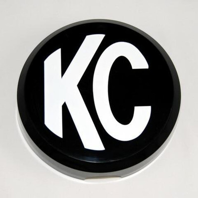 KC HiLites 6 Plastic Cover Black with White Logo 5105