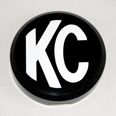 KC HiLites 6 Plastic Cover Black with White Logo 5105