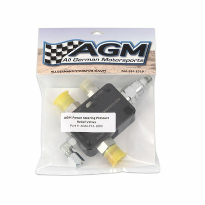 AGM Power Steering Pressure Relief Valves w/ 6an Supply Fittings AGM-PRA-1001