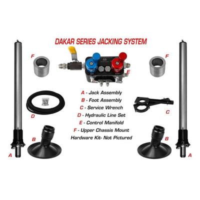 AGM Dakar Series Jack System Complete Kit 33 Travel Jack Assembly w/ 8 Dished Pad AGM-DKT-3308