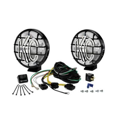 KC HiLites 6 Apollo Pro Halogen Pair Pack System Spread Black 151