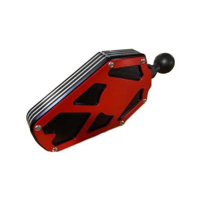 AJK Offroad Billet Aluminum Side Mirror Red 200246-RED