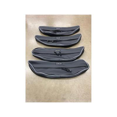 AJK Offroad Honda Talon Door Bags Silver Rear 200334-Slv