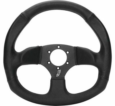 DragonFire Racing D-Shape Steering Wheels Vinyl Black 522162