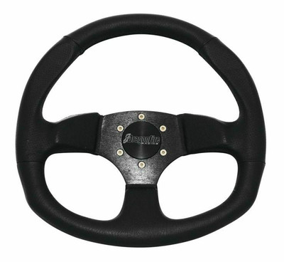 DragonFire Racing D-Shape Steering Wheels Vinyl Black 0 Offset 520969