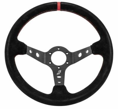 DragonFire Racing Sport Steering Wheels Suede Black 2.5 Offset 529087