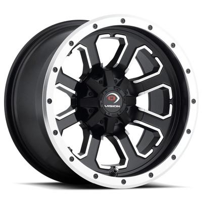 Vision Wheel 548 Commander 14x8 4x110 -10 Matte Black Machined Face 548-148110MBMF4