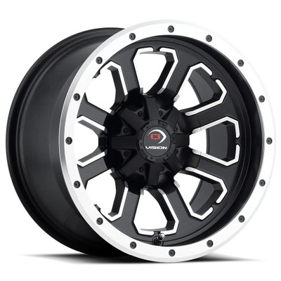 Vision Wheel 548 Commander 12x7 4x115 3 Matte Black Machined Face 548-127115MBMF4