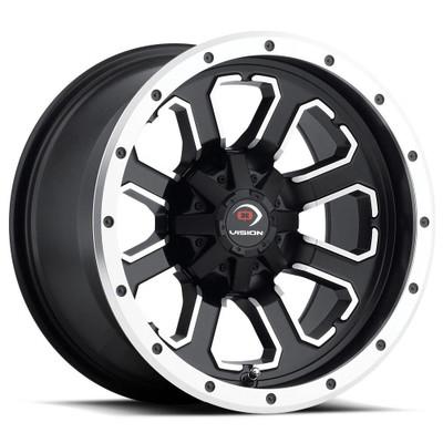 Vision Wheel 548 Commander 14x7 4x156 3 Matte Black Machined Face 548-147156MBMF4
