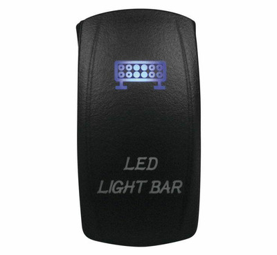 DragonFire Racing Laser-Etched Dual LED Light Bar Switch Blue 521383