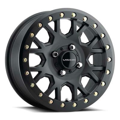 Vision Wheel GV8BL Invader 15x6 4x110 38 Satin Black GV8BL156110SB48NCC