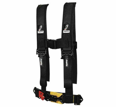 DragonFire Racing H Style 4-Point Harness Black 2 Youth 520872