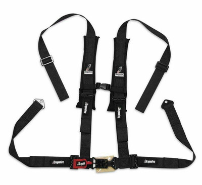 DragonFire Racing H Style 4-Point Harness Black 2 Buckle 521271