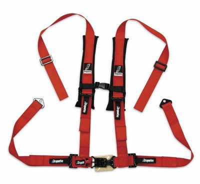DragonFire Racing H Style 4-Point Harness Red 2 Buckle 521272