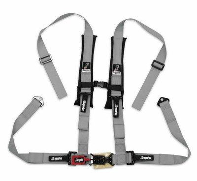 DragonFire Racing H Style 4-Point Harness Grey 2 Buckle 521274