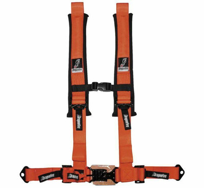 DragonFire Racing H Style 4-Point Harness Orange 2 Buckle 521405