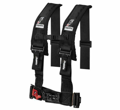 DragonFire Racing H Style 4-Point Harness Black 3 Buckle 521354