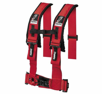 DragonFire Racing H Style 4-Point Harness Red 3 Buckle 521355
