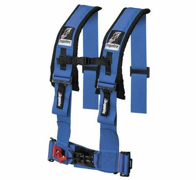 DragonFire Racing H Style 4-Point Harness Blue 3 Buckle 521356