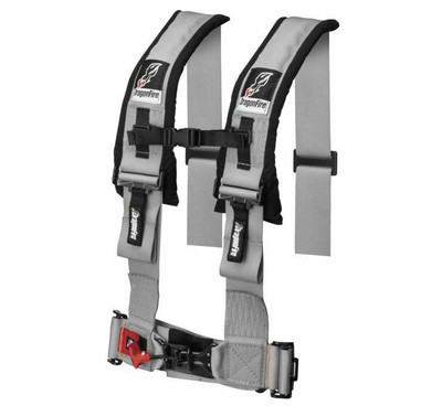 DragonFire Racing H Style 4-Point Harness Grey 3 Buckle 521357