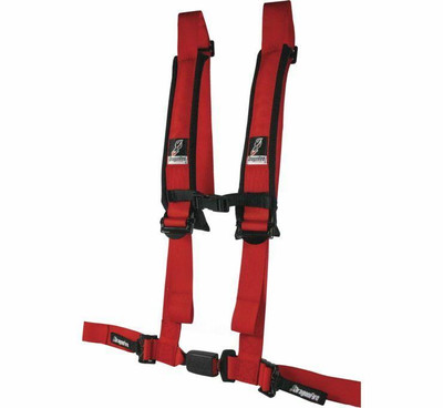 DragonFire Racing H Style 4-Point EZ-Adjust Harness Red 2 Buckle 522045