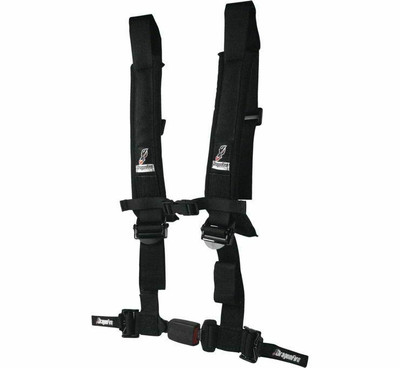 DragonFire Racing H Style 4-Point EZ-Adjust Harness Black 3 Buckle 522046