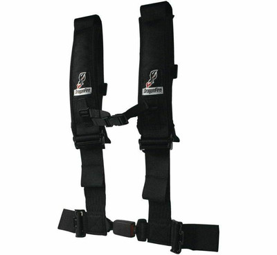 DragonFire Racing H Style 5-Point EZ-Adjust Harness No Pad Black 3 Buckle 522048