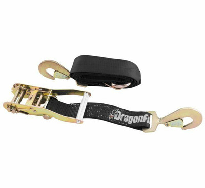 DragonFire Racing 2 Heavy-Duty Ratchet Strap Black 522134