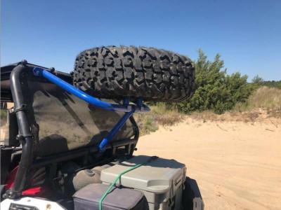 Tab Performance Polaris RZR S900 / S1000 Tubular Spare Tire Rack Velocity Blue 715-4000-VEL