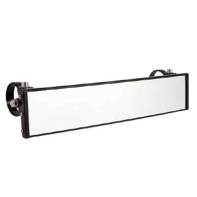 Axia Alloys 12″ Wide Panoramic Rearview Mirror with 0.5″ Arms Black MOD12PRVM-BK