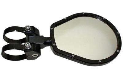 Axia Alloys 6.0″ Folding Side Mirror Flat Glass Black MOD6FSM-BK