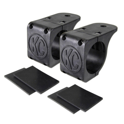 KC HiLites Tube Clamp Mount Bracket Pair for 1.75 to 2 Round Light Bars 73071