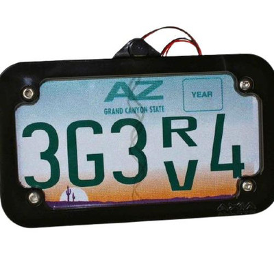 Axia Alloys Cage Mounted LED License Plate Frame Raw MODLP
