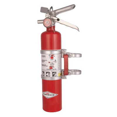 Axia Alloys Quick Release Fire Extinguisher Mount with Red 2.5lb Amerex Silver MODFMAR-C
