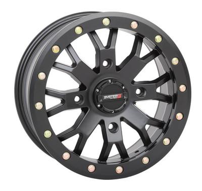 System 3 Offroad SB-4 UTV Beadlock Wheels 15x104x156-5mmMatte Black 15S3-31561